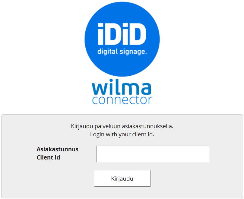 Wilma Käyttäjätunnus