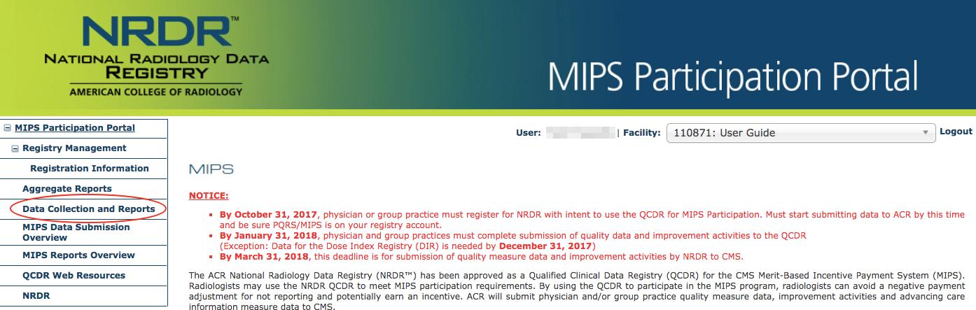 MIPS Portal Menu