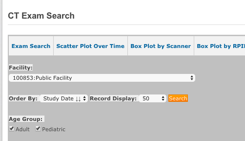 DIR SDIR - Exam Search Order by and Records Controls