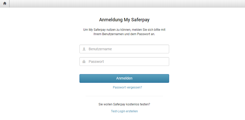 First registration SIX Saferpay : Customer Support