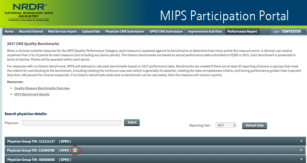 MIPS Portal - Performance Report - Download