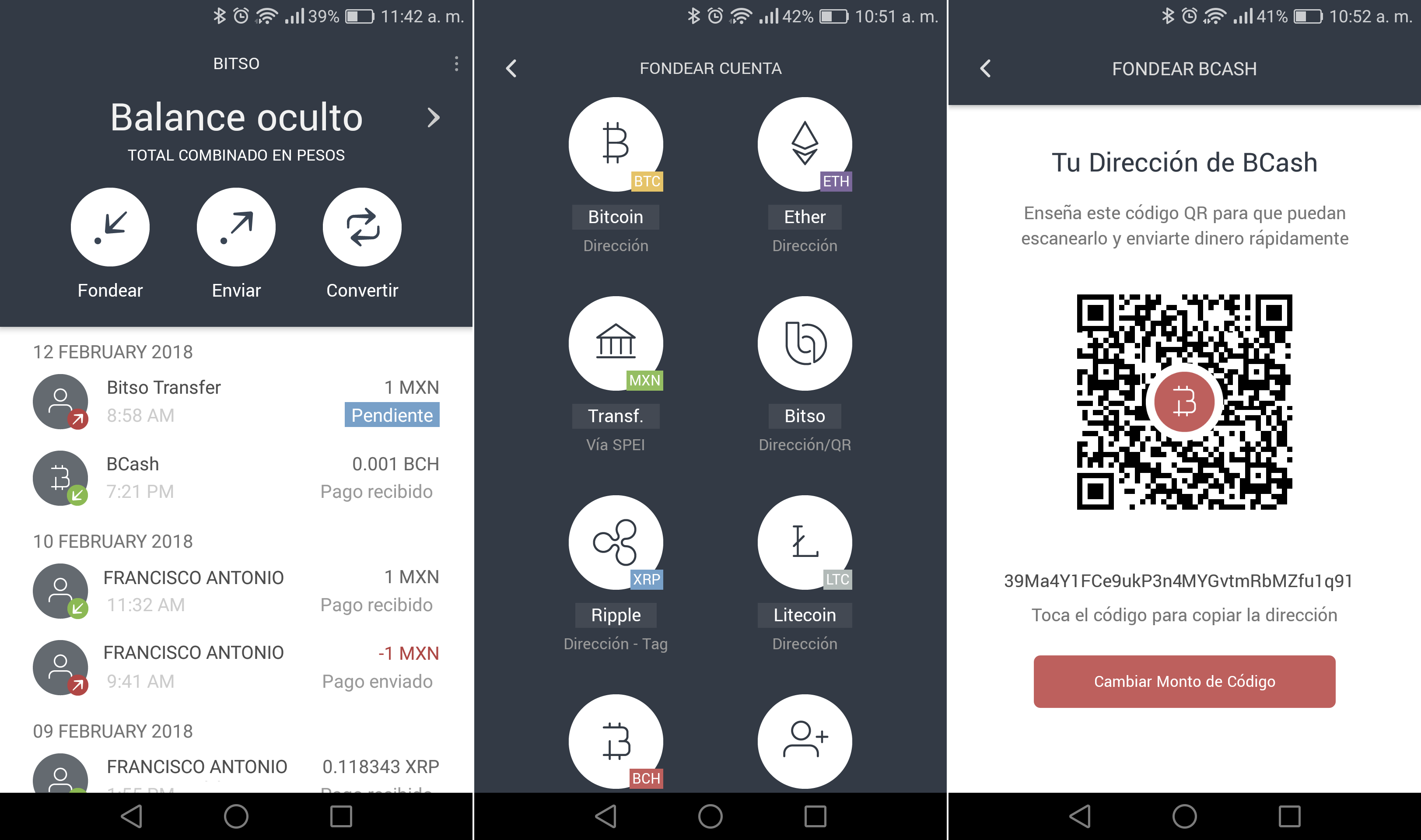 Tutorial: How to Fund or Send Currency on Bitso App with a