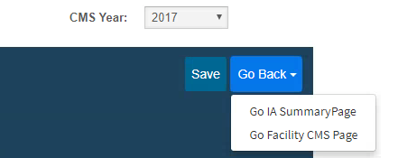 MIPS Portal - IA - Go Back CMS Submission Page