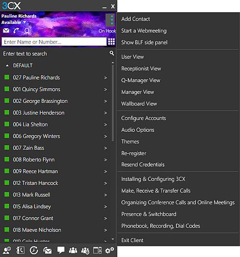 Le client 3CX pour Windows