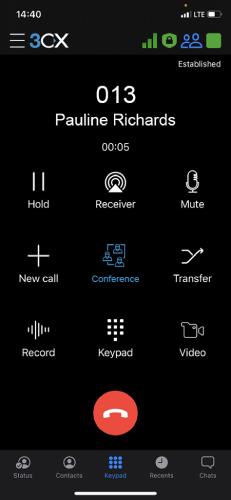 Appel en conférence instantané