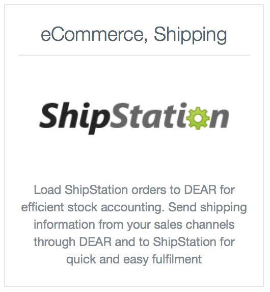 ShipStation Integration : DEAR Support Team