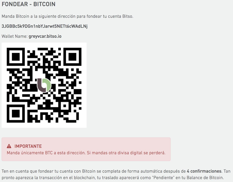 Tutorial: Receiving Bitcoins in your Bitso account : Centro de Ayuda