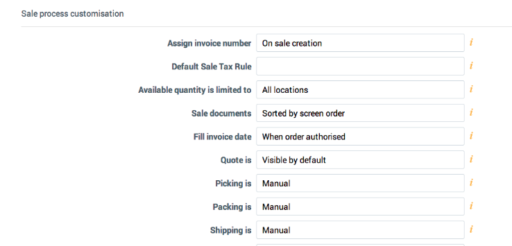General Settings DEAR Support Team - Invoice number format
