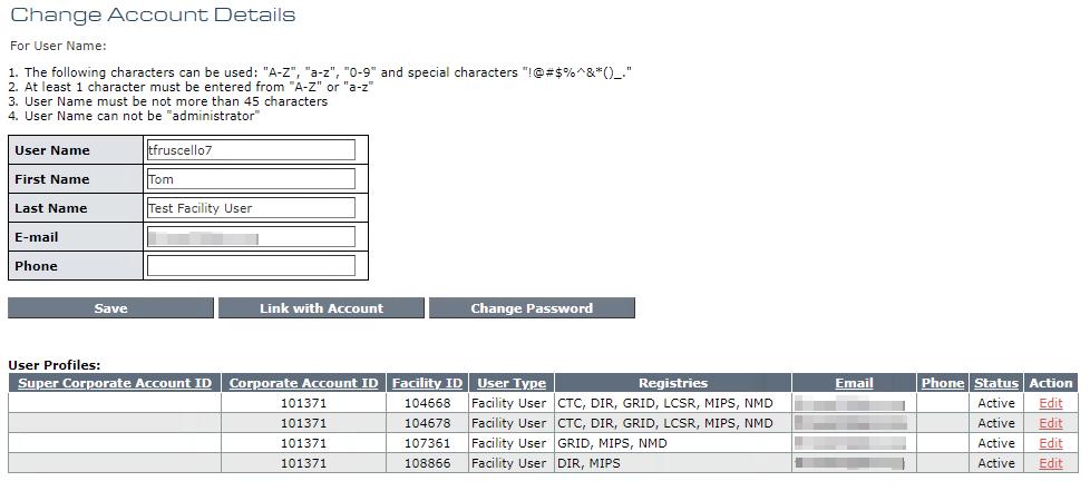 My Account - Change Account Details
