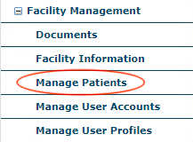NRDR Manage Patients