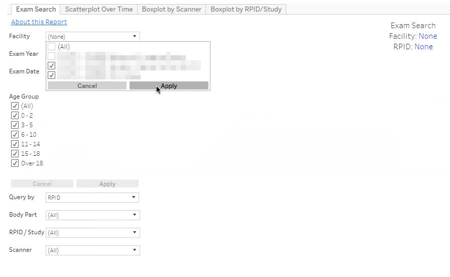 DIR Interactive Reports - Filters