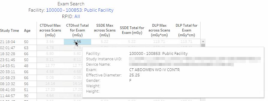DIR SDIR - Exam Search - Detail