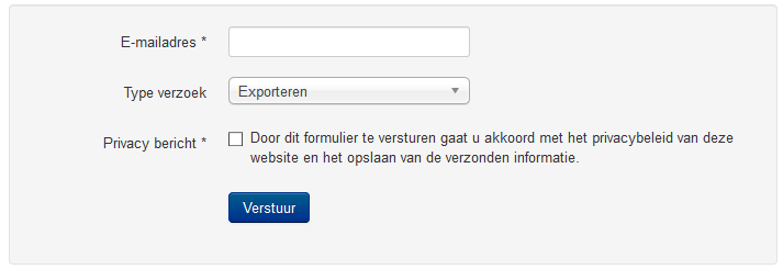 Het scherm informatie verzoek