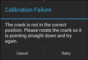 Calibration Failure Text