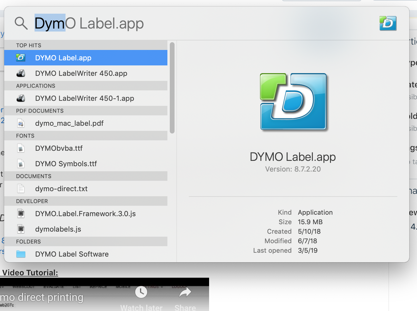 Recommended Printer Set-up: DYMO Direct Printing : ScanPower