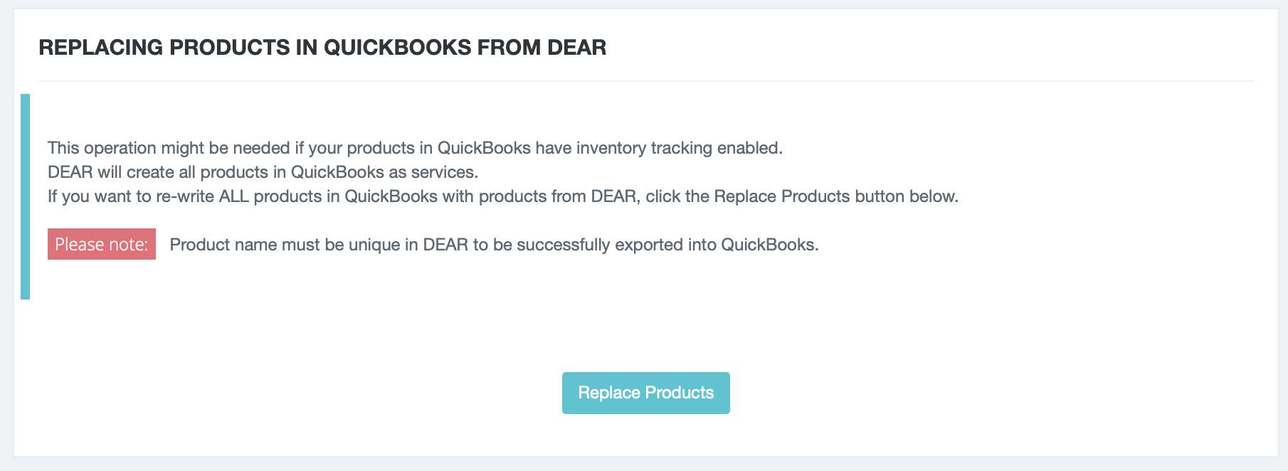 QuickBooks Online Integration - Basics : DEAR Support Team