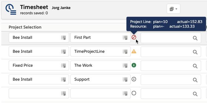 Project Line Status