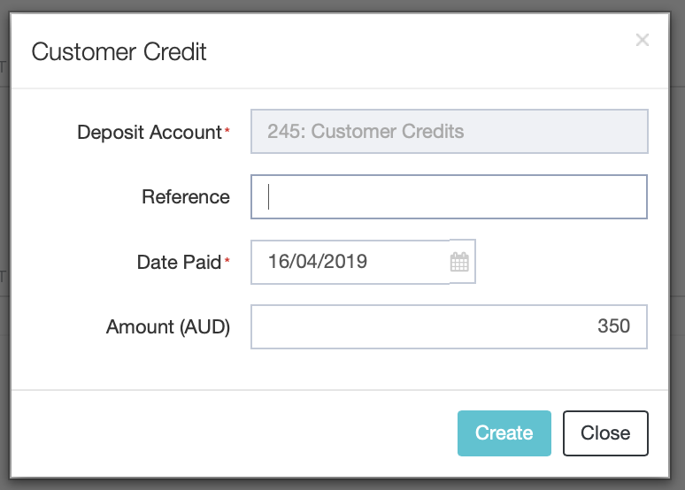 Applying Credit Notes as Part Payment - Sales : DEAR Support