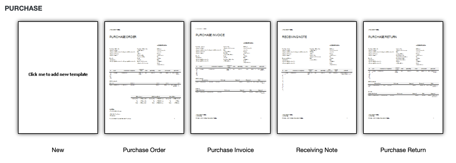 Management Template : Invoice And Stock Management In