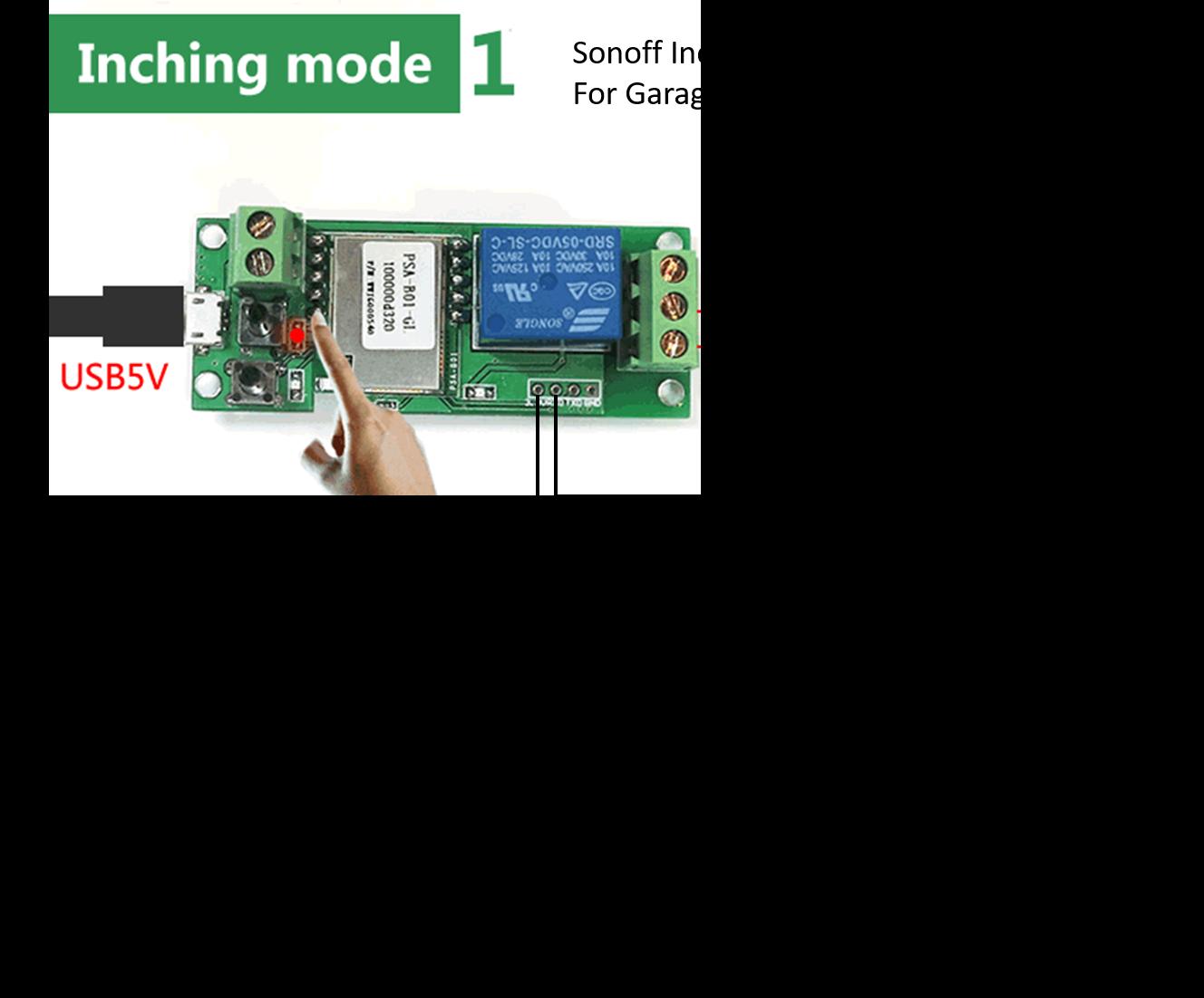Sonoff To Be Interfaced With Garage Door Opener Itead