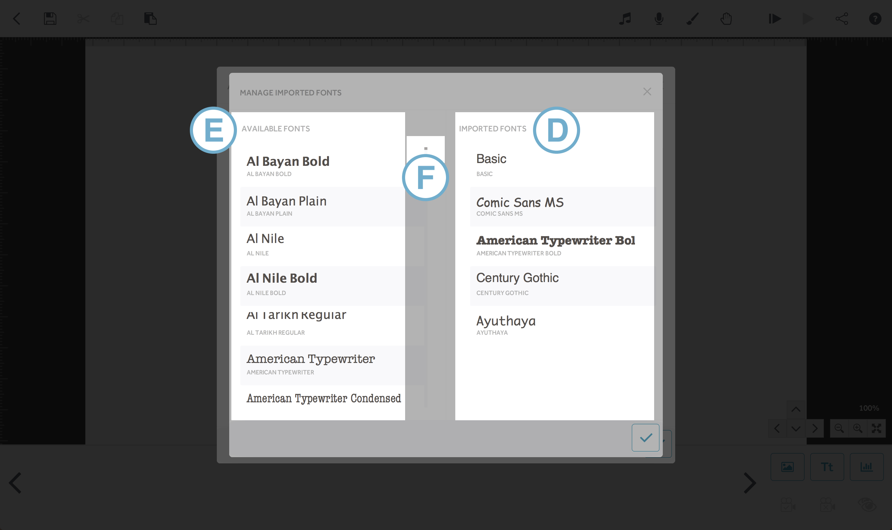 Import fonts : VideoScribe