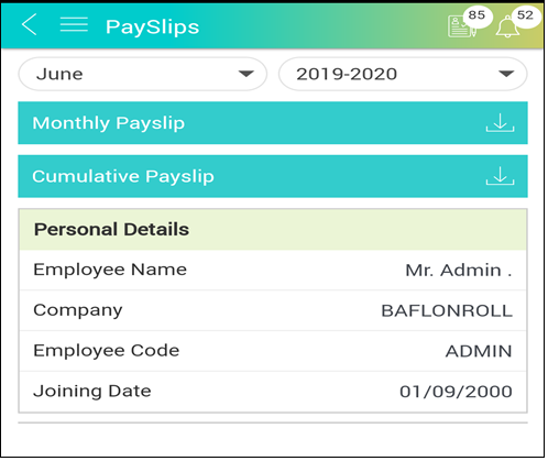 How to view payslip and add investment from mobile app