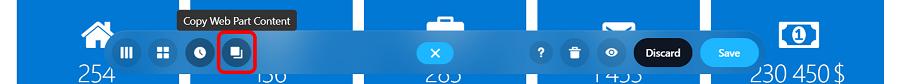 copy web part button
