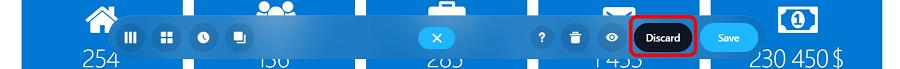 discard button