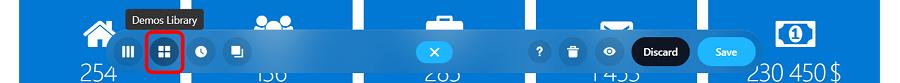 demos library button
