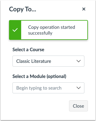 Copy To Window Confirmation