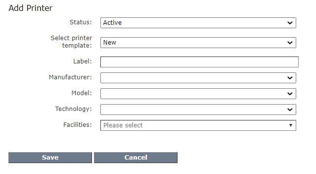 Add new printer fields