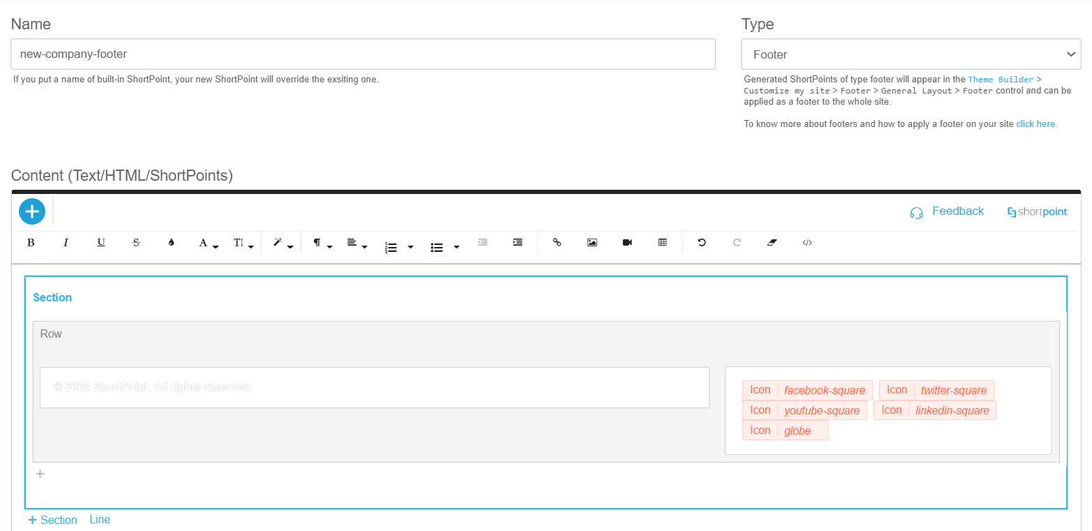 New Footer in the ShortPoint Generator