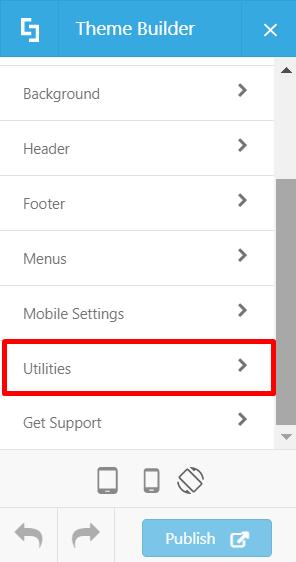 Theme Builder > Utilities
