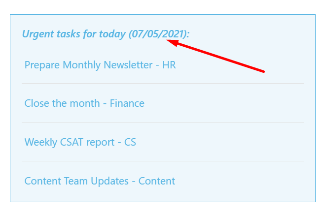 Dynamic date in the ShortPoint Design Element