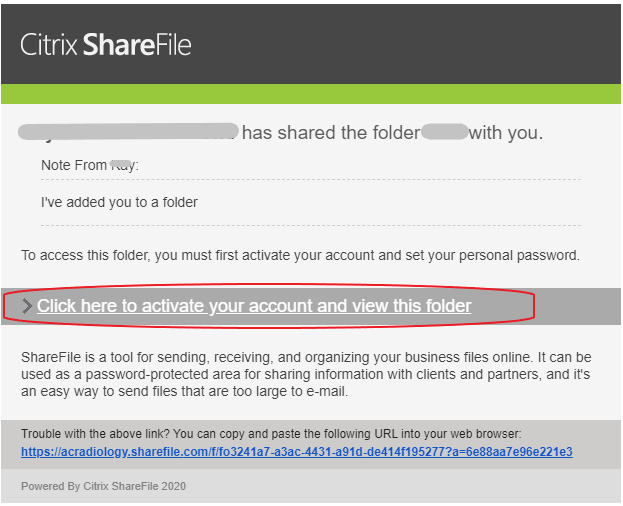 Citrix ShareFile Folder Email Notification