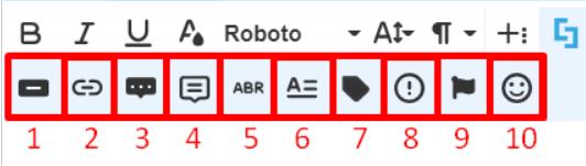 Inline Elements options: Visual Builder