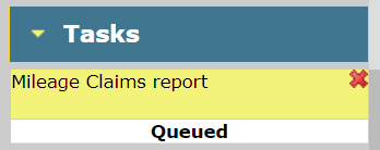 Tasks - Report Queued image