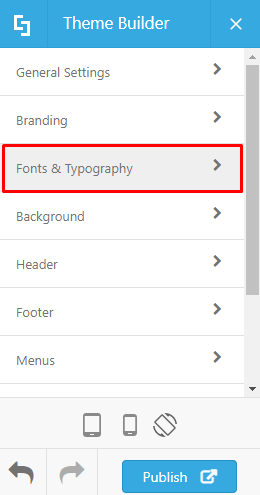 Go to Fonts & Typography