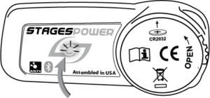 LED indicator location at the center of the power meter