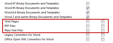Resetting the File Block settings in Word will re-enable the Signature saving feature in Outlook again. (click on image for full dialog view)