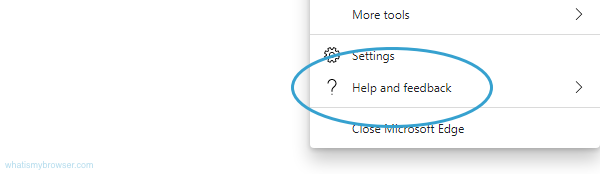 The location of the Help and Feedback menu item