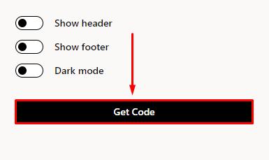 Click Get code