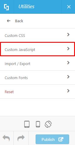 Then click Custom JavaScript