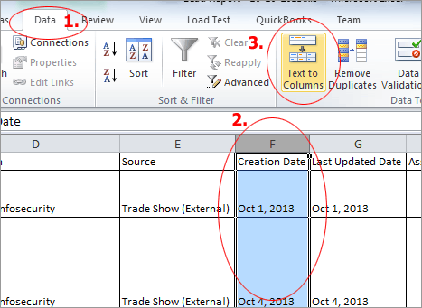 The date format is wrong when I export data from