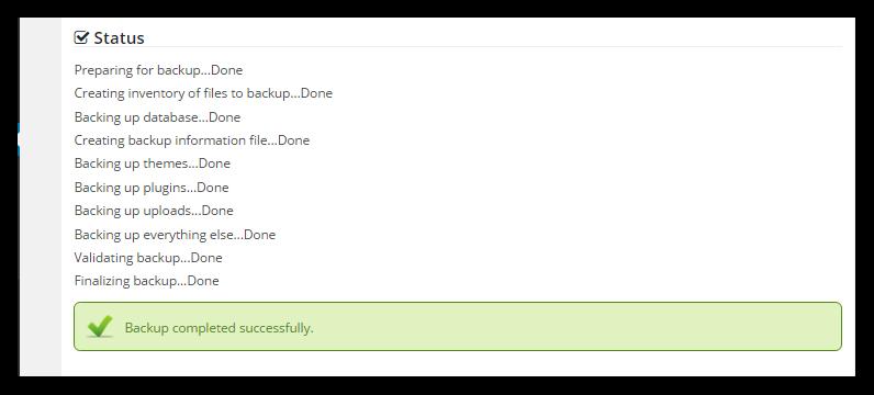 Backup Status