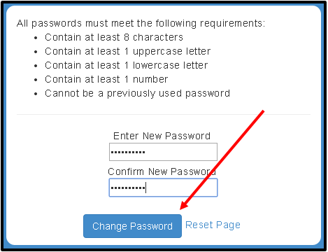 change password window screenshot