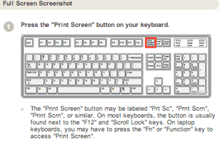 Print Screen Button