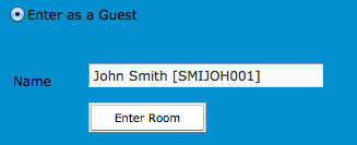 enter as guest field