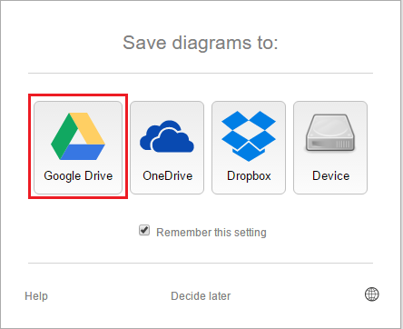 How to use draw to create a diagram or flow chart technical support nb should you not be accessing draw using a google account you may select any of the other save destinations ccuart Images
