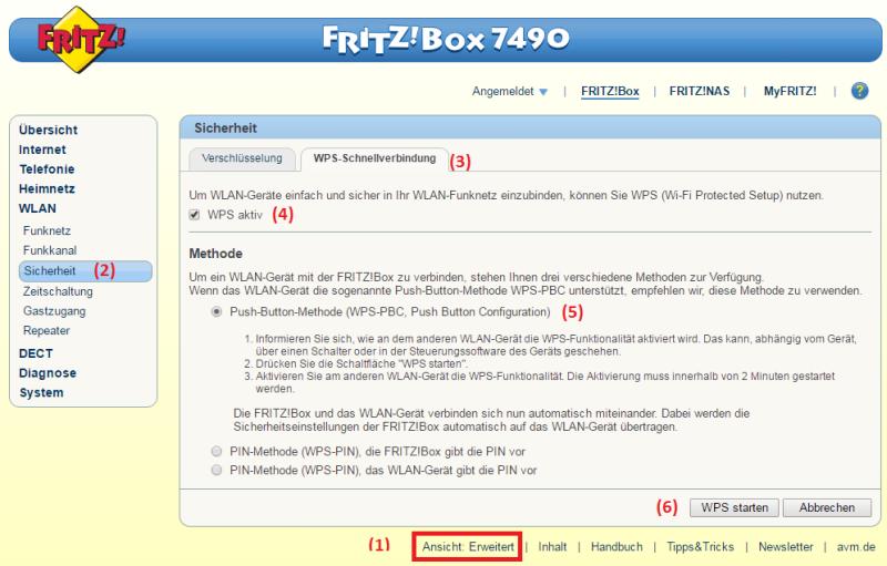 Fritz box wps aktivieren